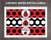 Ladybug Water Bottle Labe...