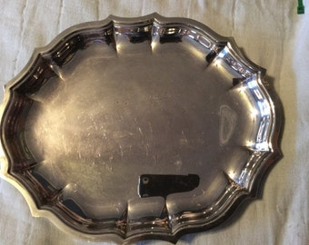 Vintage International Silver Chippendale SilverplateServing Tray