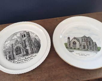 Vintage Collectable Church Plate Calvery Baptist Church Detroit Michigan