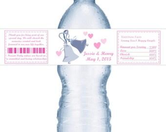 98 Wedding Bells Water Labels