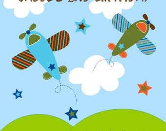 60 Airplane Themed Birthday Party Favor Tags