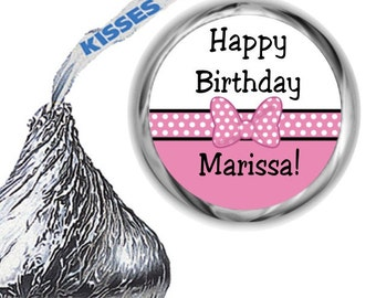 108 Minnie Birthday Party Hershey's Kiss Labels