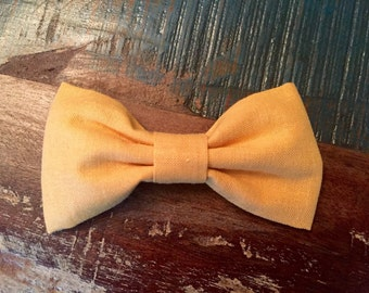 Cloth Bow Hair Clip - Mustard Yellow -- by Antique Elephant