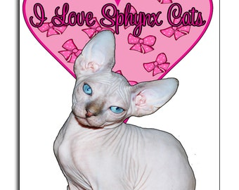 I Love Sphynx Cats-  Mouse Mat Mouse Pad