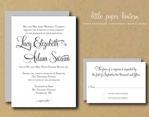 Custom Wedding Invitation Templates: Wedding Invitation Template Custom DIY Printable Wedding