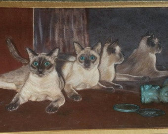Siamese cats artwork