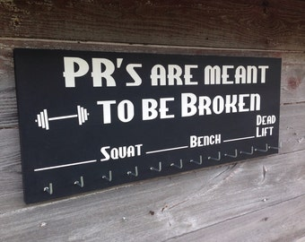 Chalkboard Weight lifting PR gift for bodybuilder