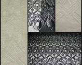 Designer Lace Sequin Fabric on Polyester Mesh
