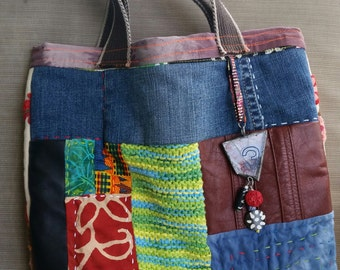 Two sided boho tote