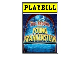 Theater / Show Charm - Playbill Play Bill -Young Frankenstein