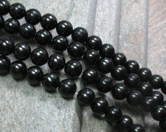 Jet Gemstone Beads, 8 mm - Full strand - Item B0170