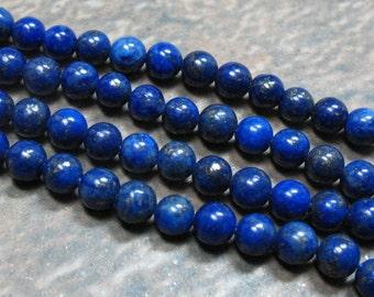 Lapis Beads 4 mm, 8 inch strand - Item B0252
