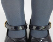 Charcoal Gray Tights for 18 inch Girl Dolls, American Made Perfect Fit Doll Hose, Fall leg warmers, pantyhose, dolly accessories, ballet
