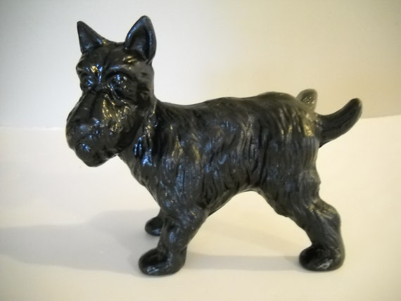 Cast iron scottie dog door stop or bookend dog peeing scotty - Cast iron dog doorstop ...