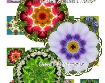 Digital, Kaleidoscope, Mandalas, Bottle Cap, Circular Art, T-shirt Designs, Quilt Design, Pillows, Textiles, Frame Art, Scrapbooking