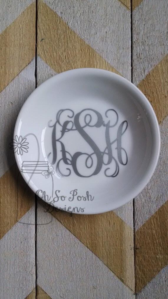Personalised Wedding Gift Ring Dish : Personalized Dish Small Ring Dish Wedding Gift Jewelry Dish Ring ...