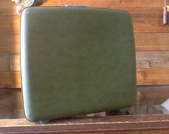 Vintage Luggage/Suitcase Vintage Hard Shell Green American Tourister Tiara Vinyl Suitcase No. 100
