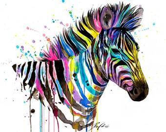 "Art Print ""Zebra"""