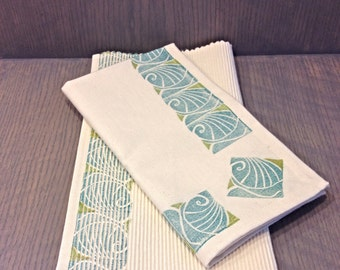 Hand Printed Napkin and Placemat - 100% Cotton