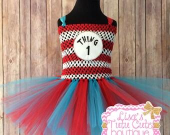 Thing tutu, Thing tutu dress, thing costume, thing 1 tutu, thing 2 tutu, thing 1 costume, thing 2 costume, Red and blue tutu, Dr Seuss week