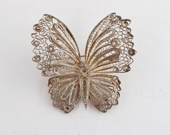 Sterling silver Vintage Butterfly pin