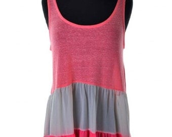 Neon Pink Colorblock Tank