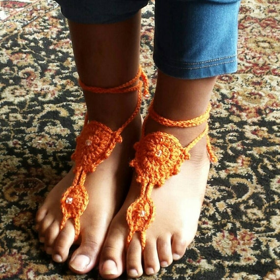 Summer Crochet Barefoot Sandals By Anzhelikacrochet On Etsy