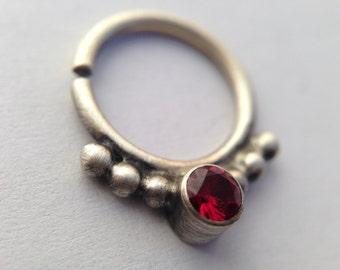 Ruby Septum Ring