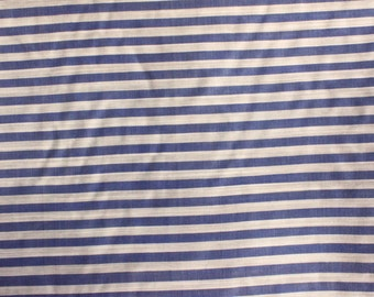 Blue and White Stripe-100% Silk