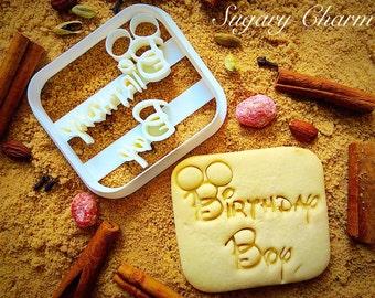 Birthday boy cookie cutter