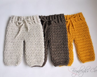 Crochet Newborn Pants, Newborn Photo Prop, Boy Crochet Pants, Boy Photo Prop