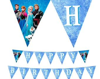 Frozen Printable Happy Birthday Banner