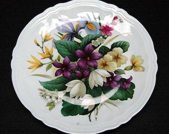 Rochard Limoges Flower Plate