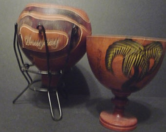 Final Clearance ~Two Hand Crafted Bowls- Venezula & Uruguay