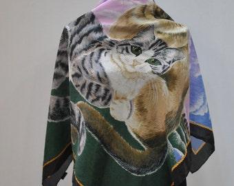Vintage SUZZANE KLEE handmade silk scarf...(861)