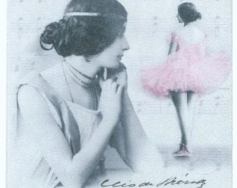Decoupage Napkins | Vintage Photos of La Belle Époque French Dancer Cleo De Merode  | Paper Napkins for Decoupage | Dance Napkins