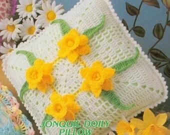 Crochet Jonquil Doily Pillow Pattern
