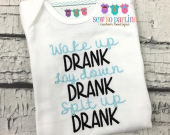 Funny baby outfit - baby boy Clothes - Drank - Baby Boy outfit - funny baby shirt - baby Boy Funny outfit
