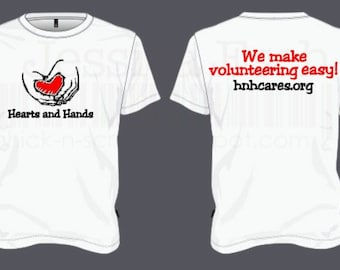 Hearts and Hands White Volunteer Tee-Shirt