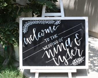 Chalkboard Easel/Wedding Chalkboard/Chalkboard with Stand/Baby Shower Chalkboard/Chalklettering/Chalkboard Sign/Birthday Chalkboard