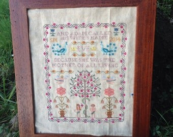 Adam and Eve - A Spring Sampler cross stitch chart