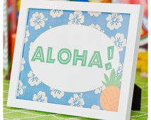 Luau Signs ; Luau Birthday Party; Luau Party Signs; Luau Decor;