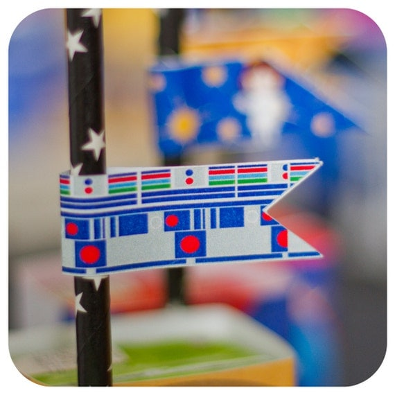 Star Wars; Star Wars Party Straw Flags; Star Wars Birthday  decor; Star Wars decor; Star Wars Party;  24 Printed, Cut, and Shipped to you!