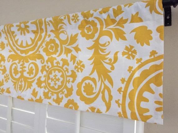 yellow kitchen valance kitchen window valance 50x16 valance