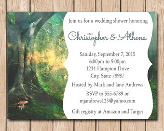 Twilight Wedding Shower Invitation | Bridal, Birthday, Fairy, Forest, Dawn - 1.00 each printed or 10.00 DIY file