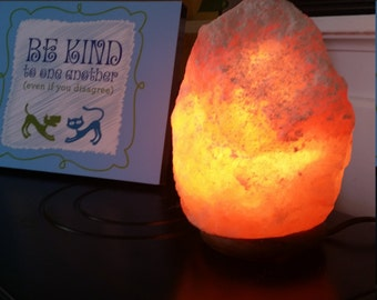 Valentine's Day Gift! Himalayan Salt Lamps, Natural Purifier 7-9 lbs, cord & bulb Buy Today!