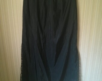 Vintage Collection - Long Black with lace ribbon Underskirt