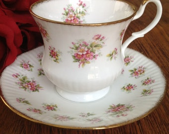 Royal Minster Fine Bone China Tea Cup & Saucer Made in England