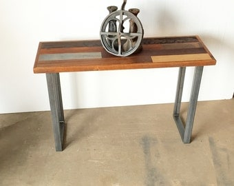 Reclaimed Wood Console Table - Patchwork