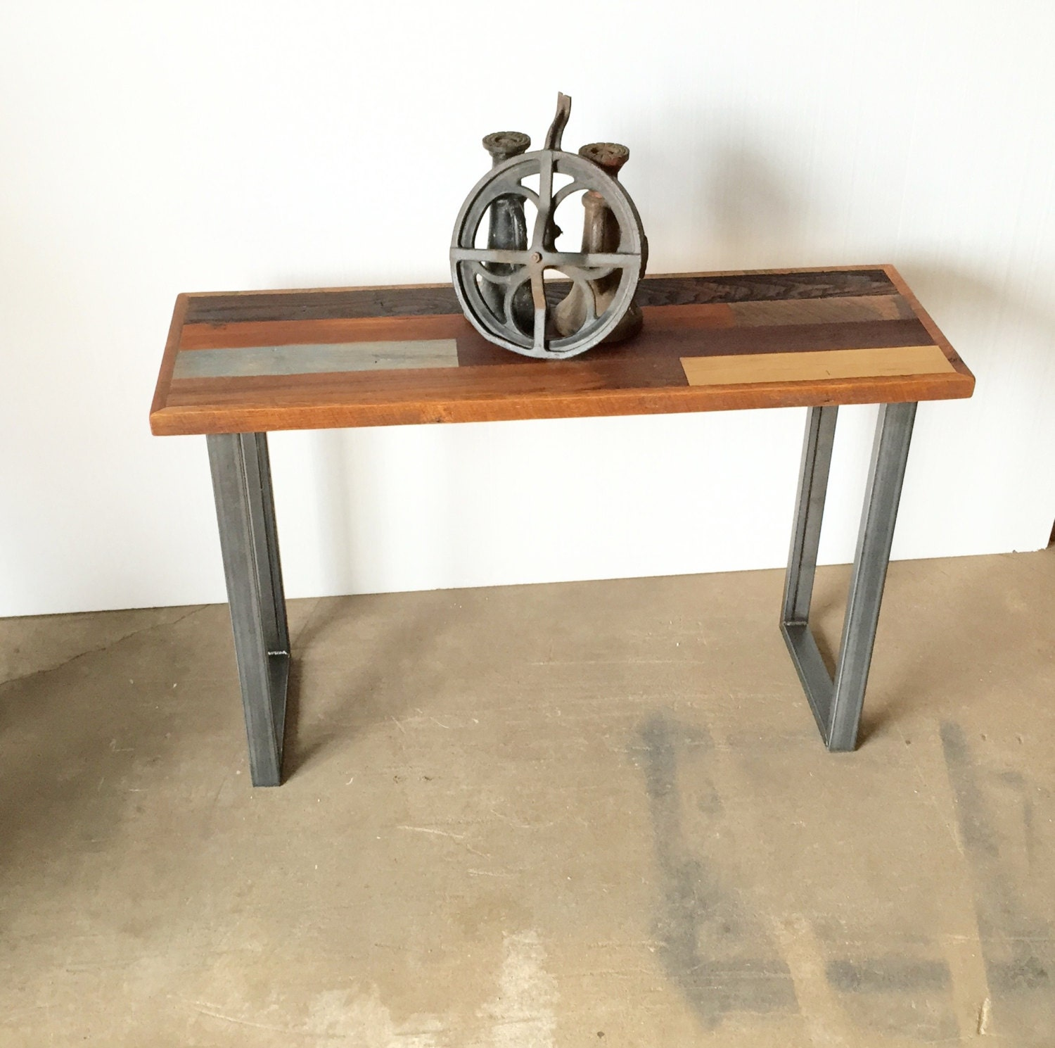 best barn wood console table